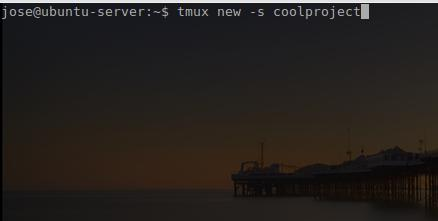 Starting a new tmux session