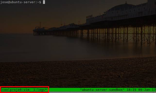 Showing the bottom status bar in Tmux